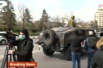 Armata a iesit pe strazile din Romania, in contextul starii de urgenta. Autoritatile sustin ca nu sunt motive de panica