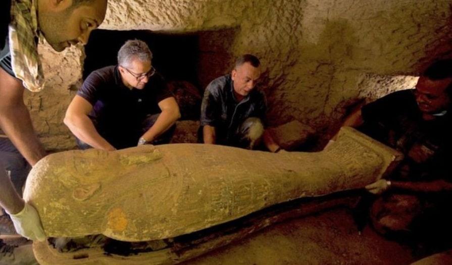 Sarcofage ingropate in urma cu 2.500 de ani in Egipt, descoperite de arheologi