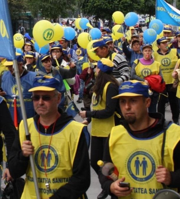 Protest al Federatiei Solidaritatea Sanitara la Guvern: Specialistii din sanatate au nevoie de conditii de munca decente si de recunoasterea meritelor