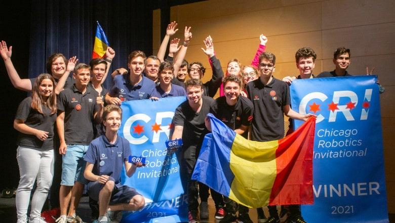 Aur la robotică pentru echipa României!