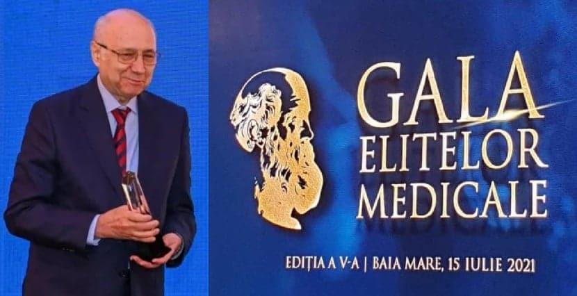 Prof. dr. Irinel Popescu a primit premiul pentru Excelență în Medicină la Gala Elitelor Medicale